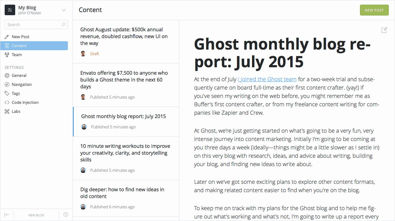 Ghost 0.7